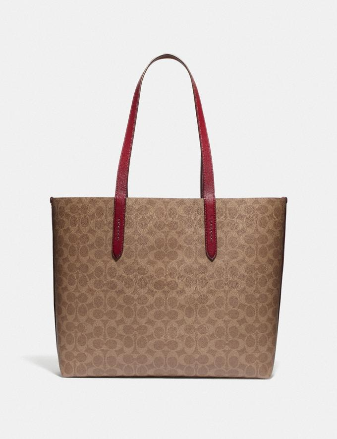 Coach Highline Tote in Signature Canvas With Rexy and Carriage Brass/Tan Deep Red Multi Women Handbags Diaper Bags Alternate View 2