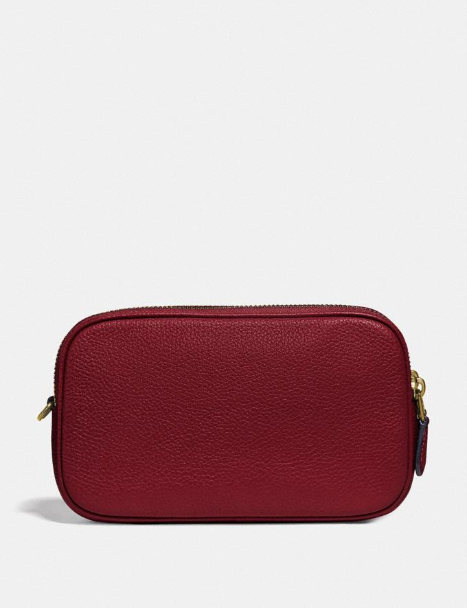 Coach Sadie Crossbody Clutch With Rexy and Carriage Brass/Deep Red New Featured Rexy Collection Alternate View 2