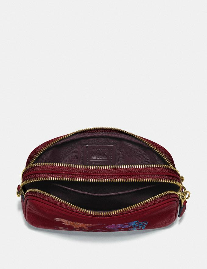 Coach Sadie Crossbody Clutch With Rexy and Carriage Brass/Deep Red New Featured Rexy Collection Alternate View 3
