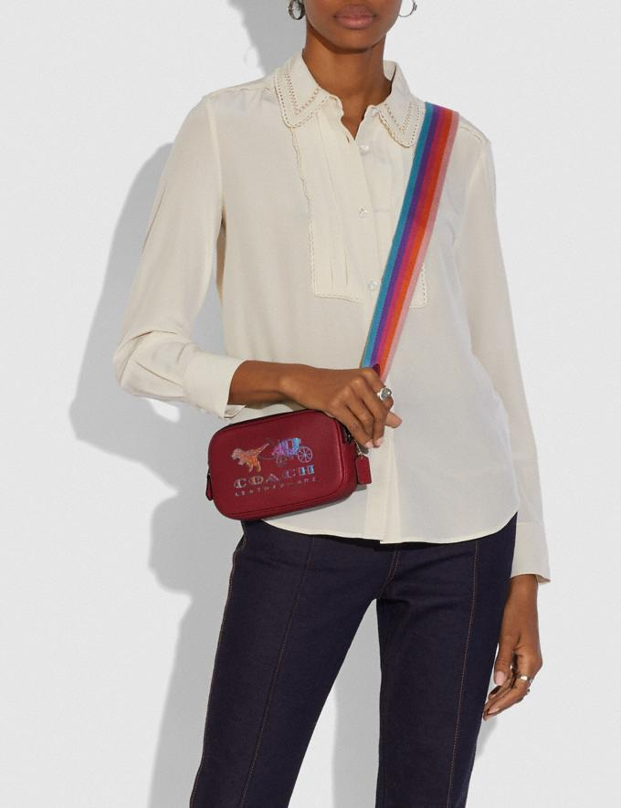 Coach Sadie Crossbody Clutch With Rexy and Carriage Brass/Deep Red New Featured Rexy Collection Alternate View 4