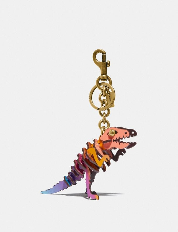 Coach Small Rexy Bag Charm Brass/Multi New Featured Rexy Collection