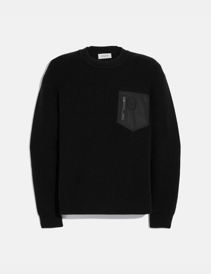 Coach Crewneck Sweater Black