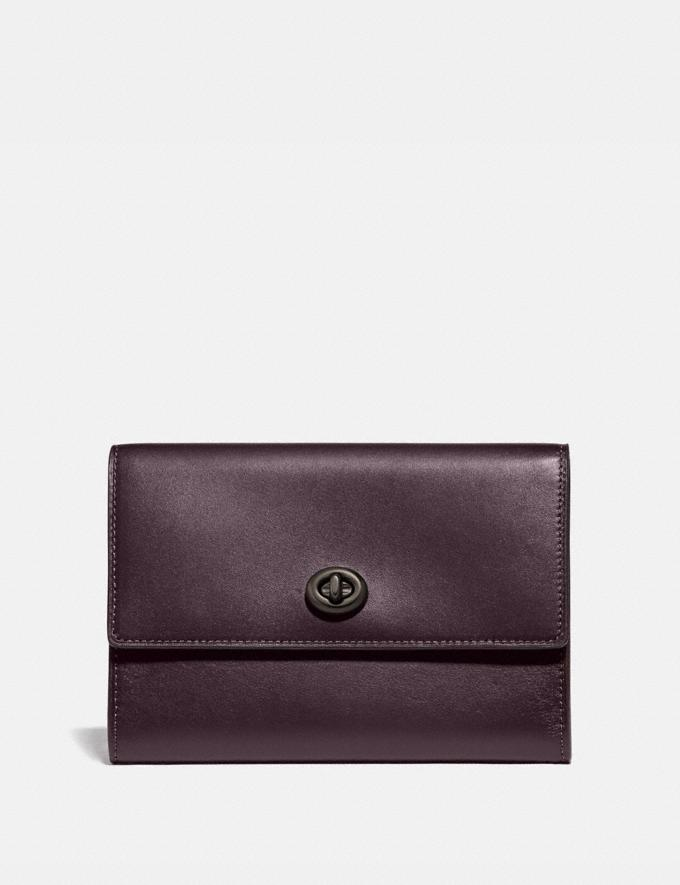 Coach Pouch Oxblood New Men's New Arrivals Accessories