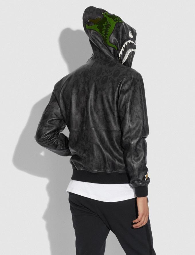 Coach Bape X Coach Shark Leather Jacket Black Multi  Alternate View 2