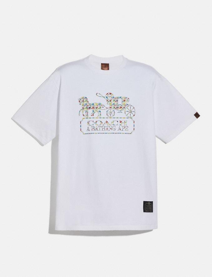 Coach T-Shirt Bape X Coach Bianco