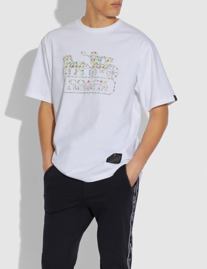 Coach T-Shirt Bape X Coach Bianco  Visualizzazione alternativa 1