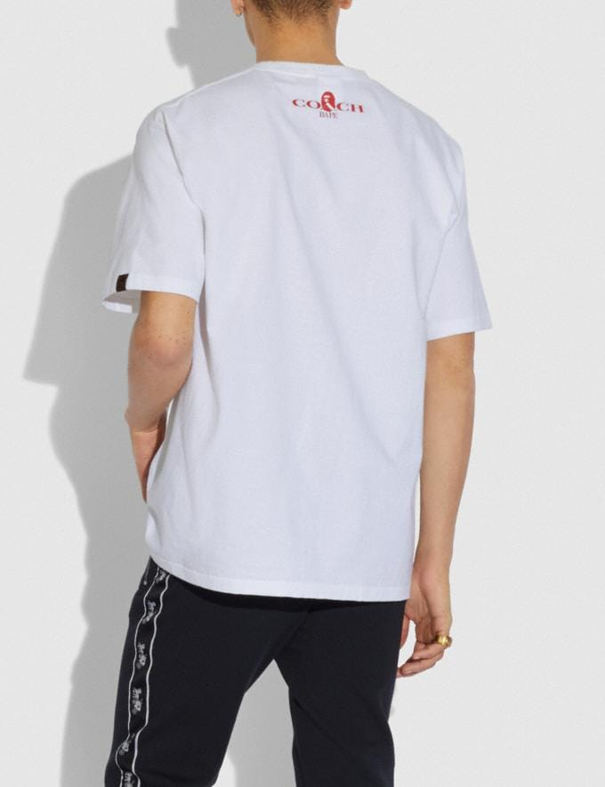 Coach T-Shirt Bape X Coach Bianco  Visualizzazione alternativa 2