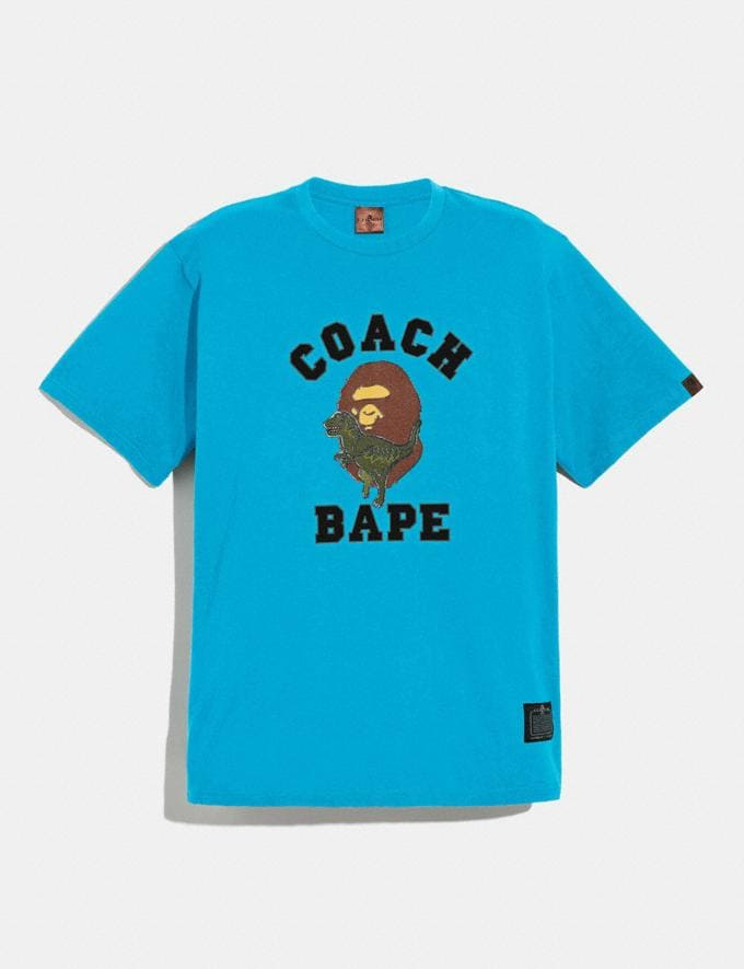 Coach Bape X Coach T-Shirt Blue Men Ready-to-Wear Clothing
