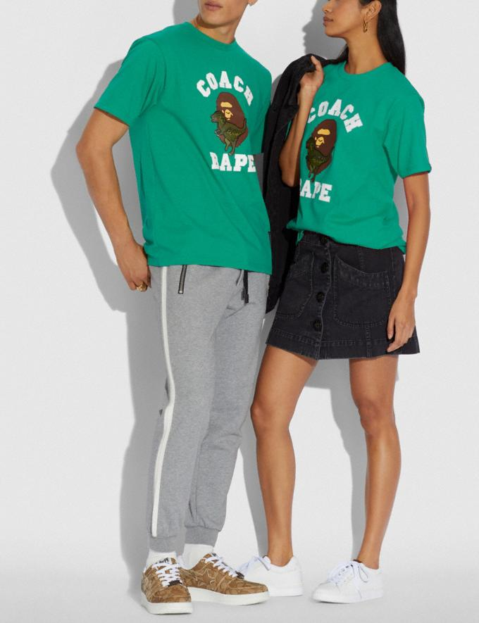 Coach T-Shirt Bape X Coach Verde Scuro  Visualizzazione alternativa 1