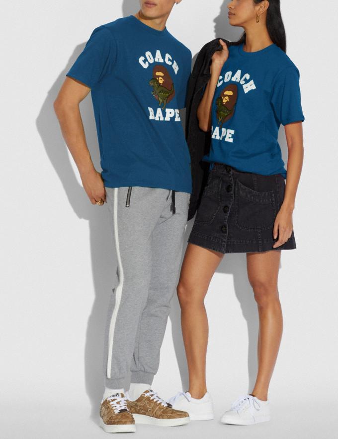 Coach Bape X Coach T-Shirt Navy  Alternate View 1