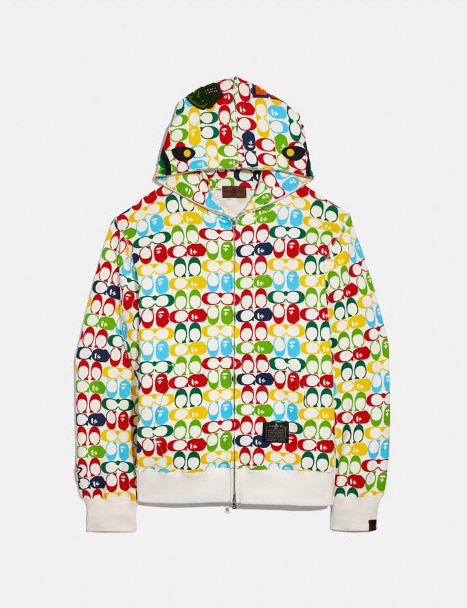 Coach Bape X Coach Shark Full Zip Hoodie Camo Multi