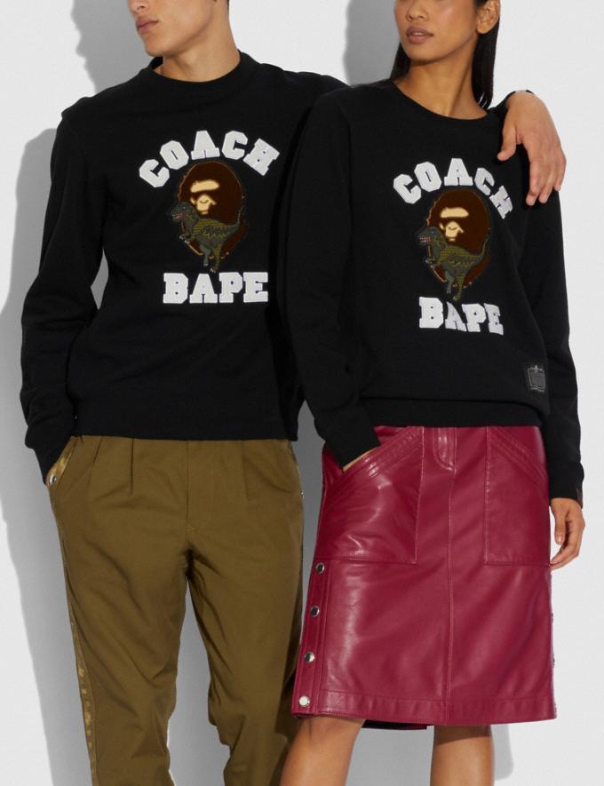 Coach Bape X Coach Crewneck Sweatshirt Black  Alternate View 1