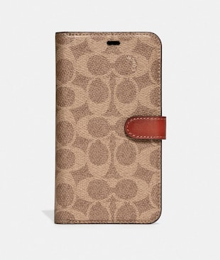 IPHONE XS MAX FOLIO IN SIGNATURE CANVAS