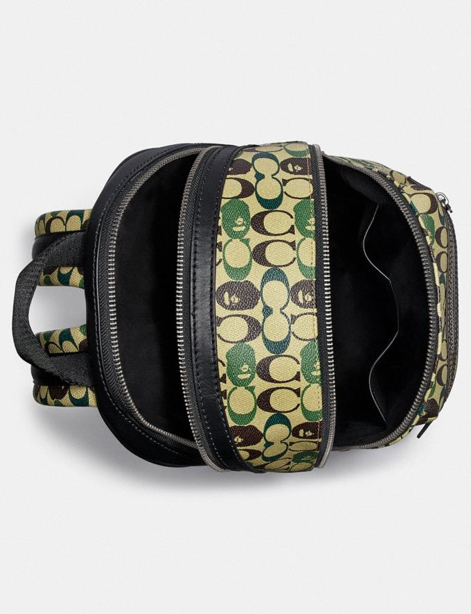 Coach Bape X Coach Academy Backpack in Signature Canvas With Ape Head Black Copper/Camo Multi  Alternate View 2