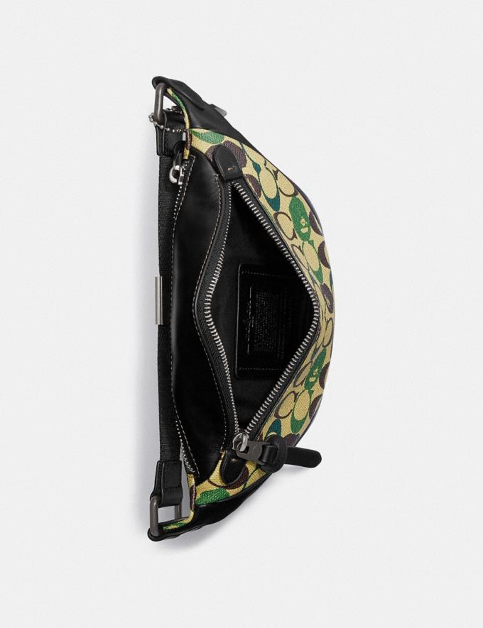 Coach Bape X Coach Rivington Belt Bag 7 in Signature Canvas With Ape Head Black Copper/Camo Multi  Alternate View 2
