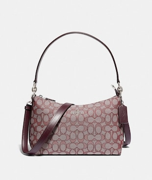 LEWIS SHOULDER BAG IN SIGNATURE JACQUARD