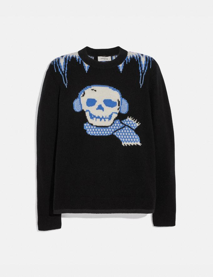 Coach Bonesy Crew Neck Sweater Black