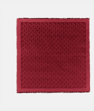 HORSE AND CARRIAGE JACQUARD OVERSIZED SQUARE SCARF