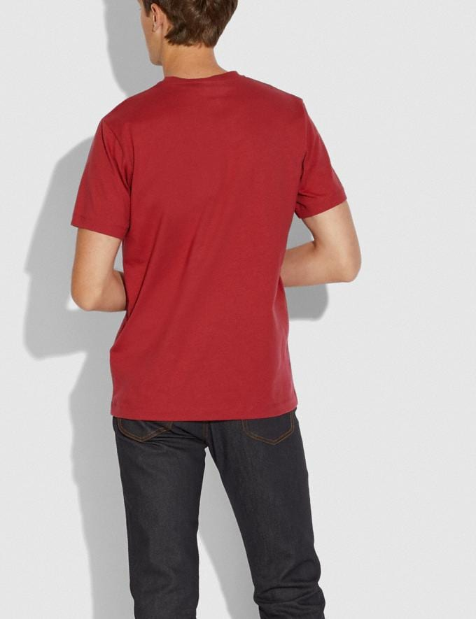 Coach Lunar New Year Nylon Detail T-Shirt Red  Alternate View 2