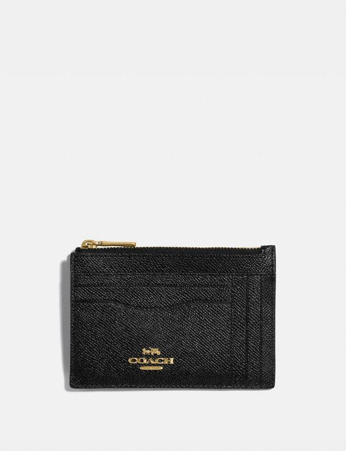 Coach Large Card Case Gold/Black Women Wallets & Wristlets Card Cases