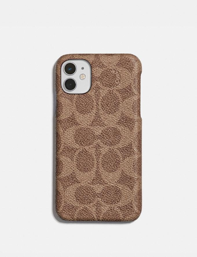 Coach iPhone 11 Case in Signature Canvas Tan