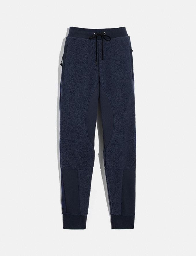 Coach Horse and Carriage Fleece Track Pants Deep Navy Men Ready-to-Wear Tops & Bottoms
