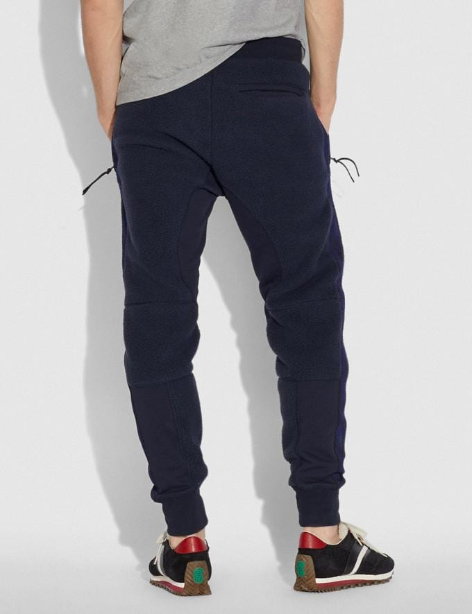 Coach Horse and Carriage Fleece Track Pants Deep Navy Men Ready-to-Wear Tops & Bottoms Alternate View 2