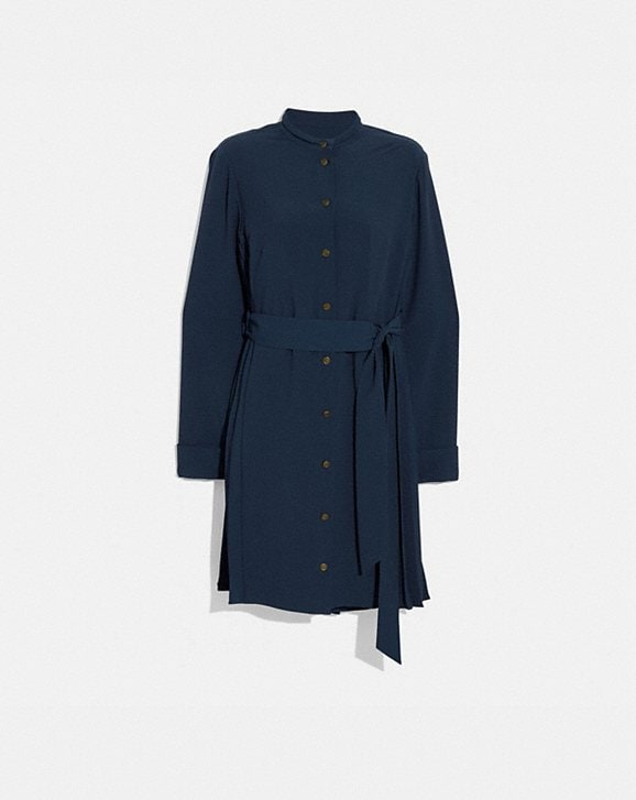 Coach HERITAGE PLEAT SHIRT DRESS
