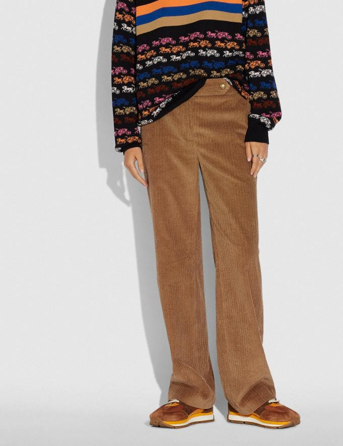 Coach Corduroy Trousers Peanut  Alternate View 1