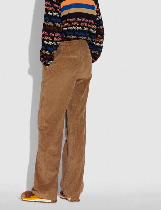 Coach Corduroy Trousers Peanut  Alternate View 2