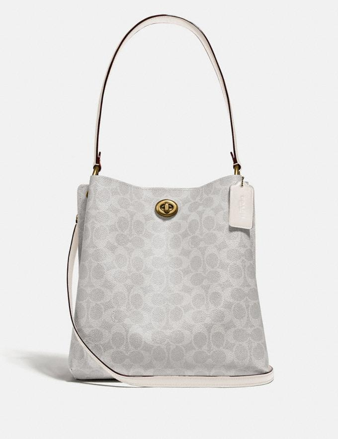 Coach Charlie Bucket Bag in Signature Canvas B4/Chalk Chalk New Featured Women New Top Picks