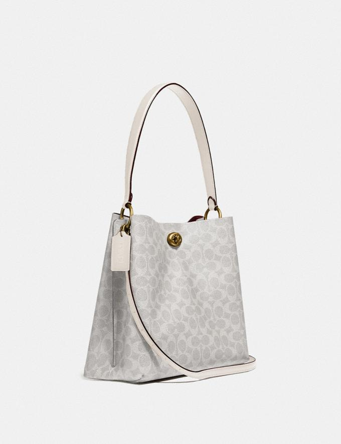 Coach Charlie Bucket Bag in Signature Canvas B4/Chalk Chalk Women Bags Signature Bags Alternate View 1