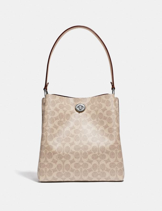 Coach Charlie Bucket Bag in Signature Canvas Light Nickel/Sand Taupe Women Handbags Shoulder Bags & Hobos Alternate View 2