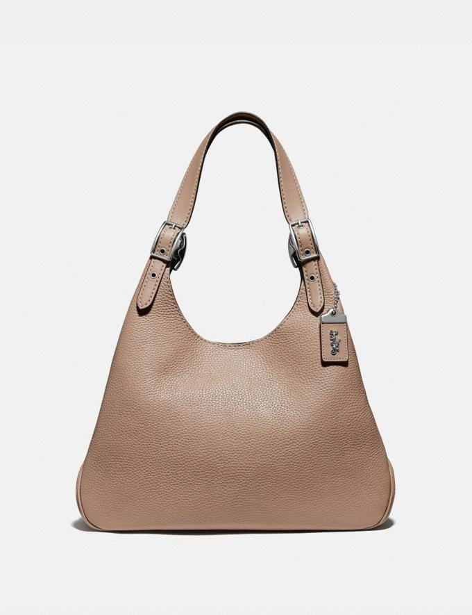 Coach Cass Shoulder Bag Light Nickel/Taupe Women Edits Night Out