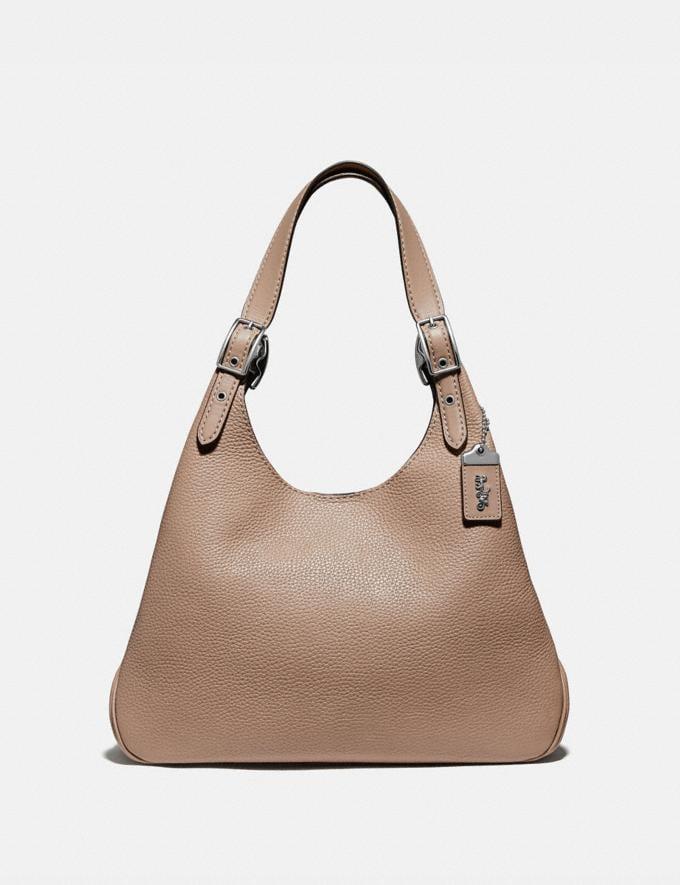 Coach Cass Shoulder Bag Light Nickel/Taupe Women Edits Work