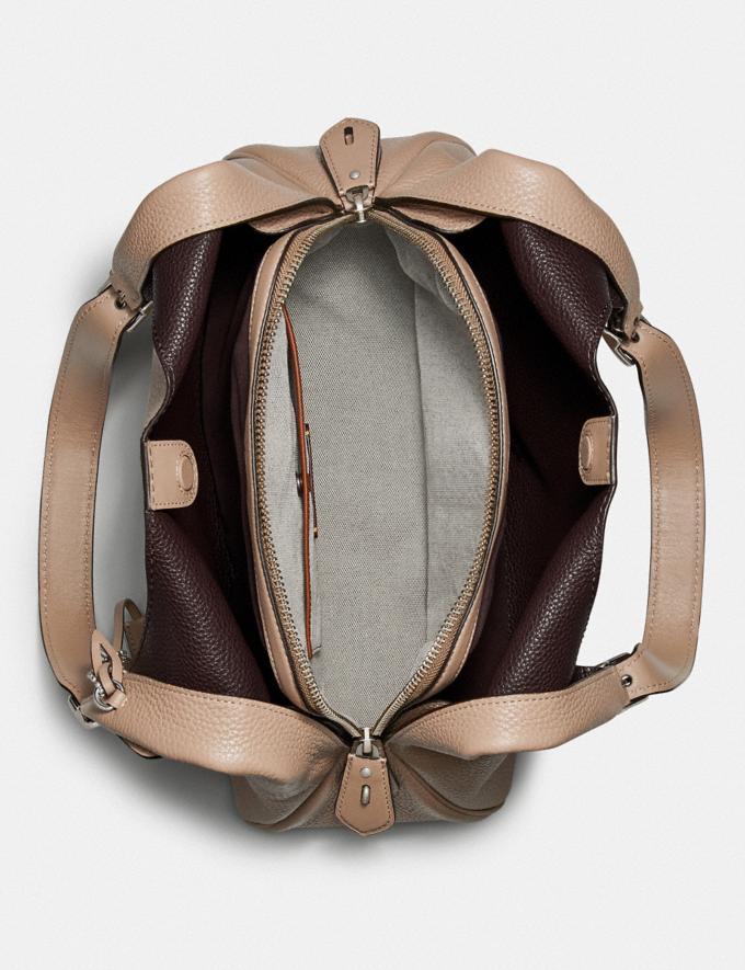 Coach Cass Shoulder Bag Light Nickel/Taupe Women Edits Work Alternate View 2
