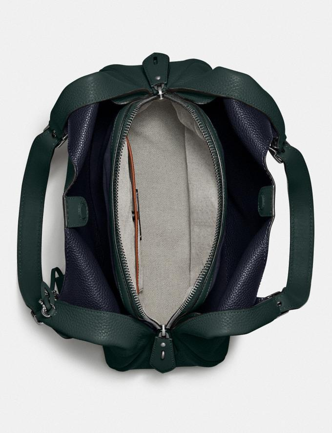 Coach Cass Shoulder Bag Pewter/Pine Green Women Handbags Shoulder Bags & Hobos Alternate View 2