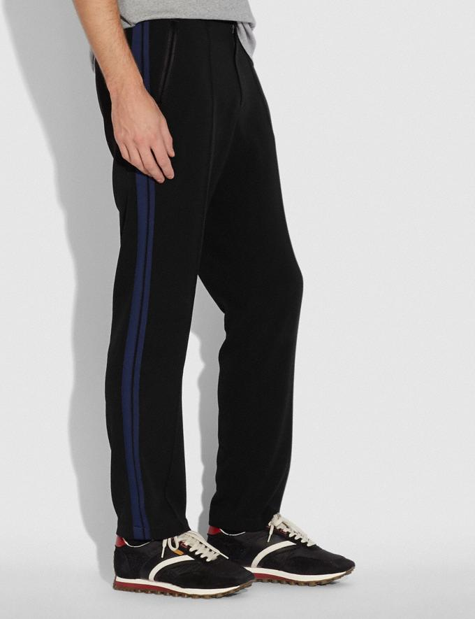 Coach Elevated Track Pants Black/Navy Men Ready-to-Wear Tops & Bottoms Alternate View 1