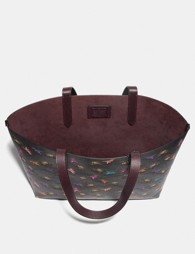 Coach Highline Tote With Rexy and Carriage Print Pewter/Black Multi Women Handbags Diaper Bags Alternate View 3