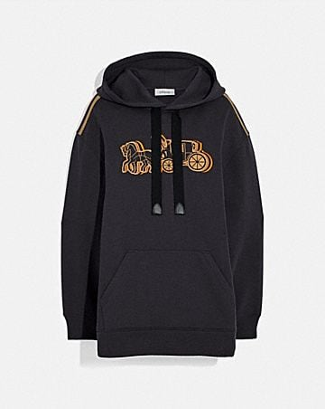 oversized horse and carriage hoodie