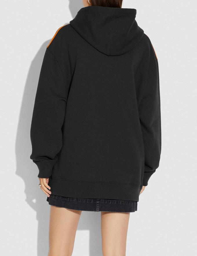 Coach Oversized Horse and Carriage Hoodie Black New Women's New Arrivals Ready-to-Wear Alternate View 2