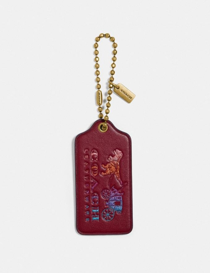 Coach Rexy and Carriage Hangtag Deep Red/Oxblood