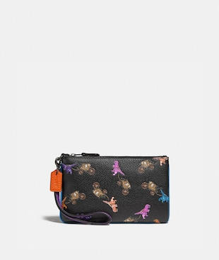 SMALL WRISTLET WITH REXY AND CARRIAGE PRINT