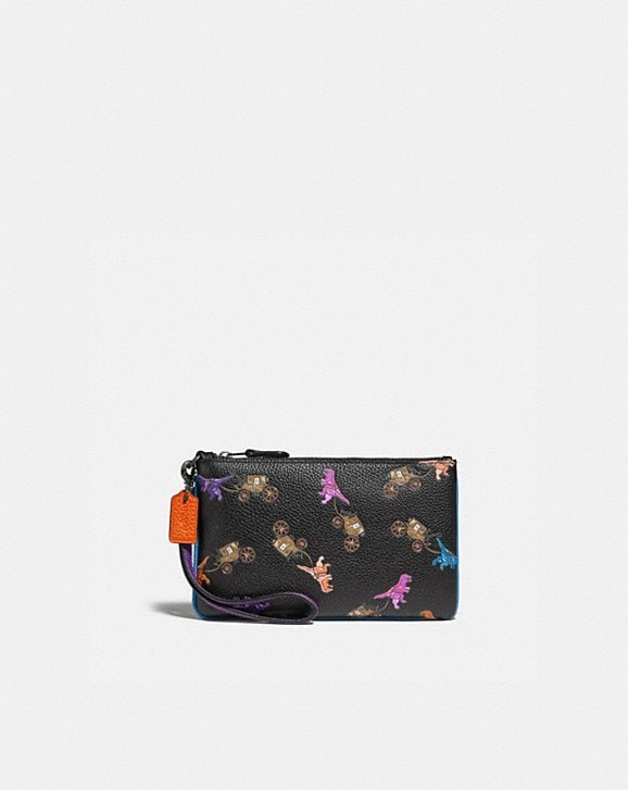 Coach SMALL WRISTLET WITH REXY AND CARRIAGE PRINT