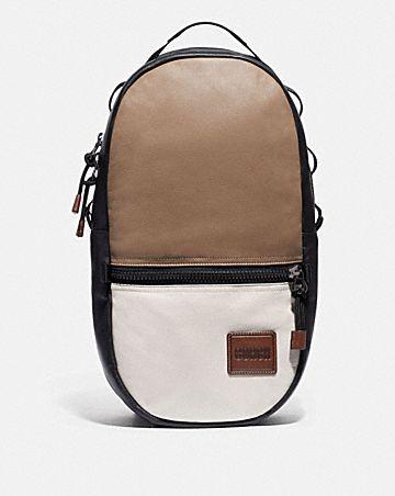 sac à dos pacer en color-block avec pièce écusson coach