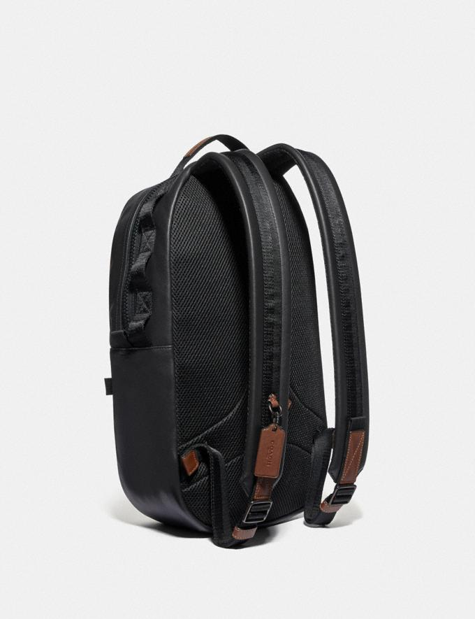 Coach Pacer Backpack in Colorblock With Coach Patch Black Copper/Brown Multi SALE Men's Sale Alternate View 1