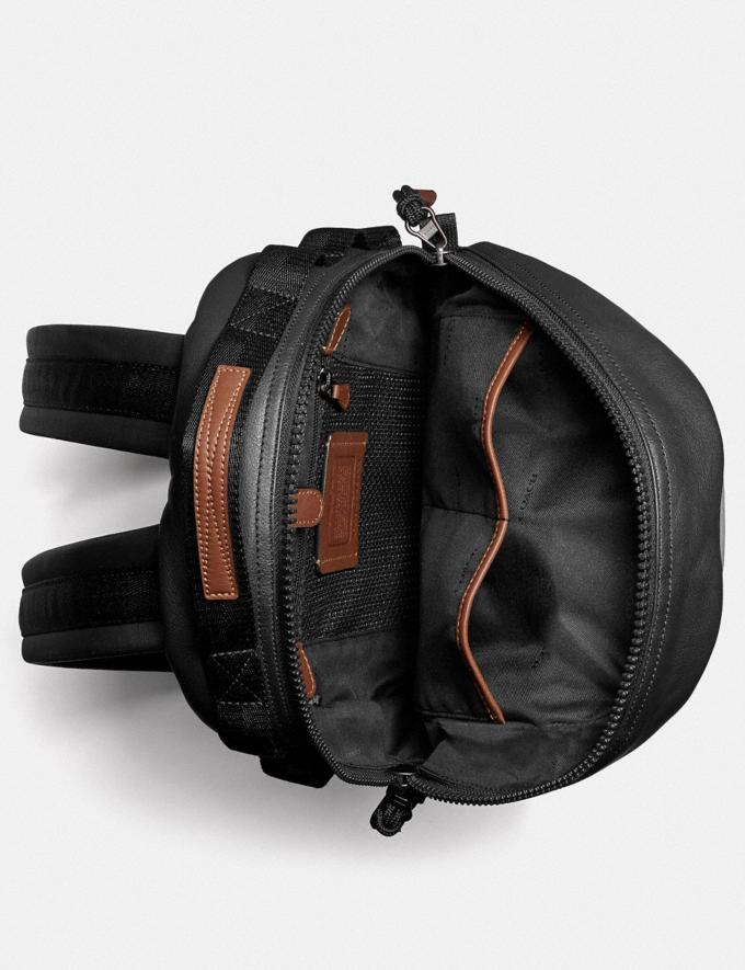 Coach Pacer Backpack in Colorblock With Coach Patch Black Copper/Brown Multi SALE Men's Sale Alternate View 2