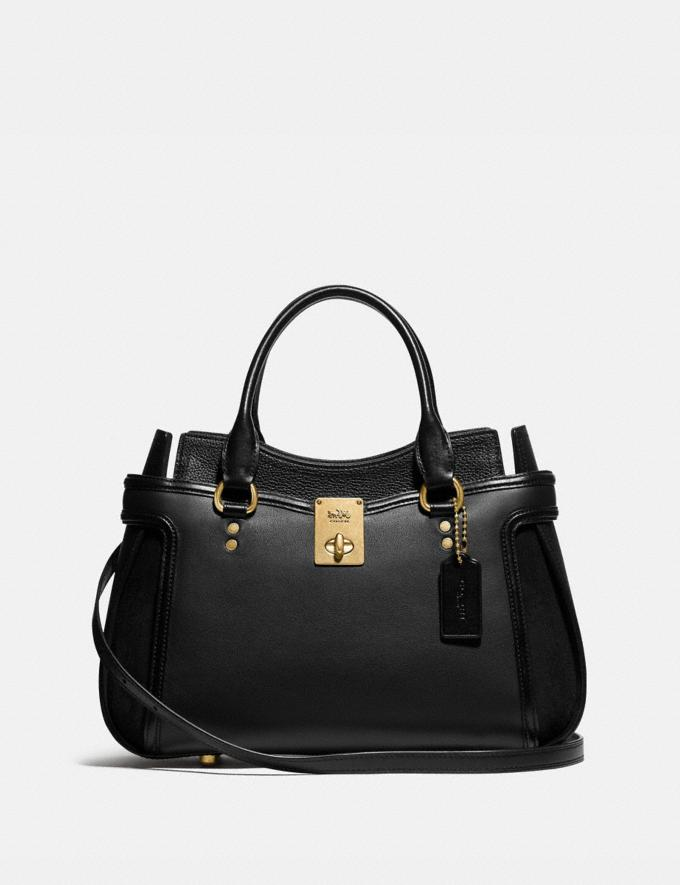 Coach Hutton Satchel B4/Black Bags Collection Hutton