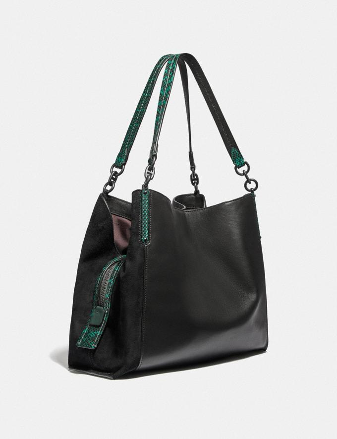 Coach Dalton 31 With Colorblock Snakeskin Detail Pewter/Black Pine Green Multi New Featured Women New Top Picks Alternate View 1