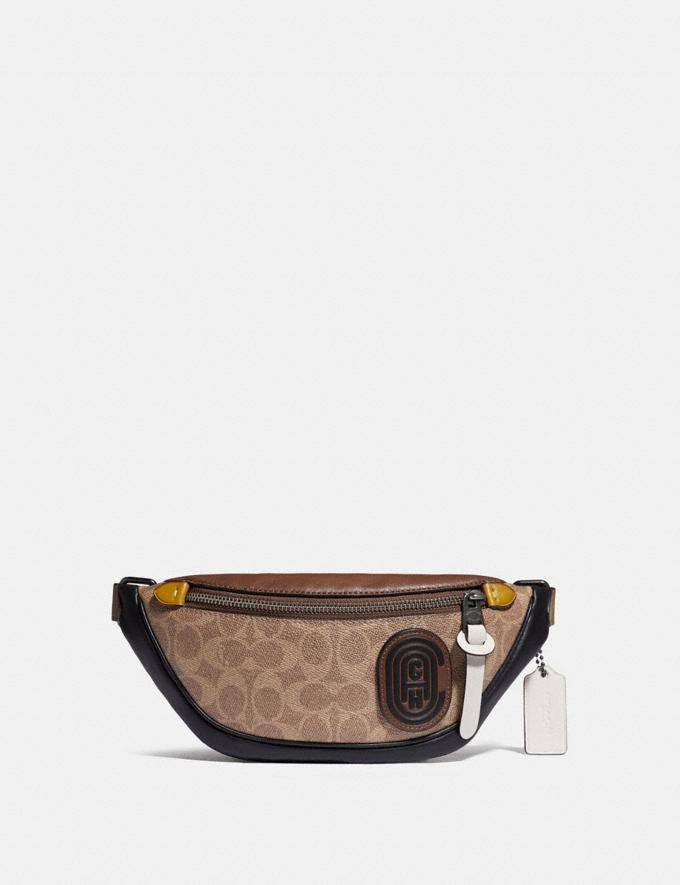 Coach Rivington Belt Bag 7 in Signature Canvas With Coach Patch Ji/Khaki/Brown Multi New Men's New Arrivals Bags